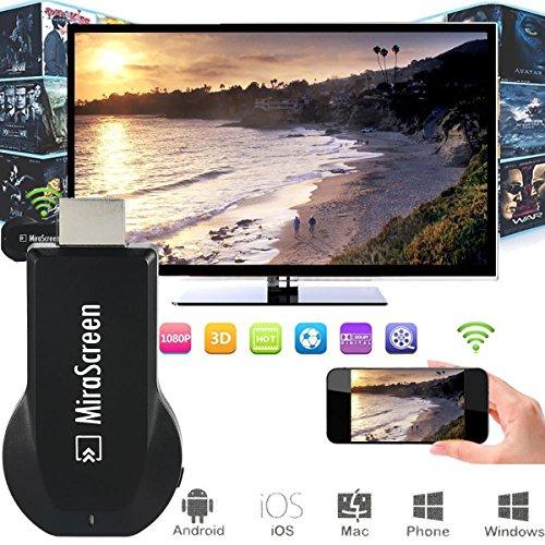 Mirascreen HDMI Wifi wireless TV Dongle 1080P Media Player DLAN Airplay para HDTV, monitor y proyector AH094