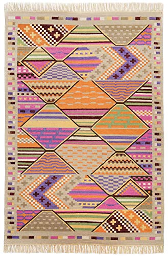 Läufer/Galerie | Kelim Teppich aus 80% Schurwolle + 20% Baumwolle; handgearbeitet und nachhaltig | Ethnostyle | Flachgewebe | 70 x 250 cm; Farbe: Beige Multi | THEKO die markenteppiche - Kelim-Roy