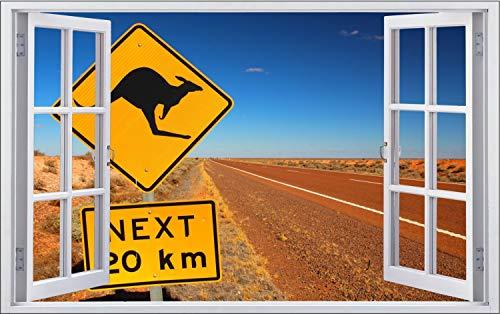 Australien Wüste Schild Kangaroo Wandtattoo Wandsticker Wandaufkleber F1689 Größe 40 cm x 60 cm