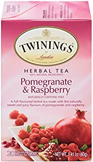 Twinings of London Pomegranate & Raspberry Herbal Tea Bags, 20 Count (Pack of 6)
