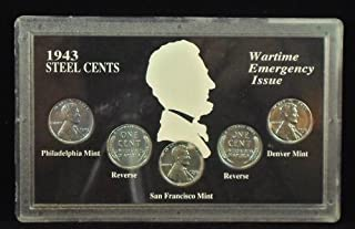 Uncirculated 1943 Steel Cents Wartime Emergency Issue Set