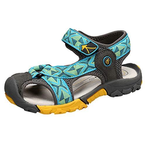 Fenverk Jungen Sandalen, Kinder Jungen Mädchen Sandalette Schuhe Outdoor Sport Sandalen Klettverschluss Sommer Schuhe(Minzgrün,30)