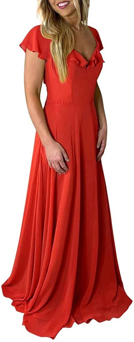 Special price Nrhsinyar Bridesmaid Dresses Long with Tucson Mall Belt for Chiffon Falbala