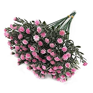 LoveniMen Artificial Mini Flowers, Gypsophila Plastic Plants Fake Flowers for Wedding Bridal Bouquet Party Indoor Outdoor DIY Home Garden Verandah Corridor Table Arrangements Decoration Pink – 20 pcs