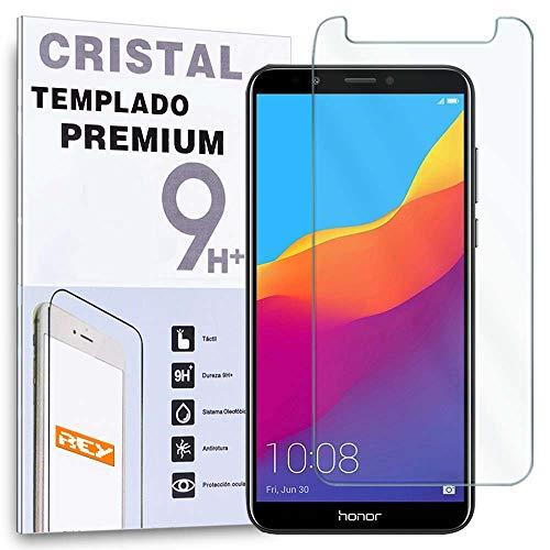 REY Protector de Pantalla para Huawei Honor 7C / Y7 2018 / Y7 Pro 2018 / Y7 Prime 2018 / Nova 2 Lite/Enjoy 8, Cristal Vidrio Templado Premium