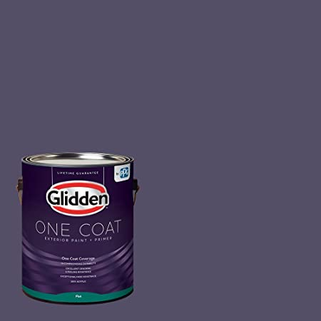 Amazon Com Glidden Exterior Paint Primer Gray Dover Gray One Coat Satin 1 Gallon Home Improvement