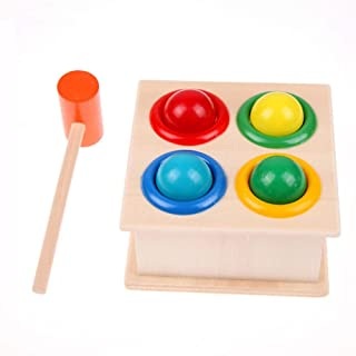 HHSDJ Creative wooden hammer ball enlightenment children learning educational toys ball boy's good gift