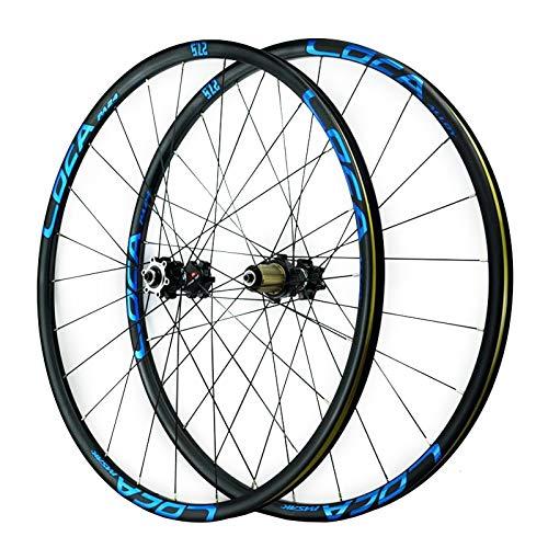 ZCXBHD 26/27,5/29 Pulgadas MTB Juego De Ruedas Liberación Rápida Bicicleta Montaña Rueda Aleación Aluminio Rodamiento Sellado Freno Disco 8/9/10/11/12 Velocidad (Color : E, Size : 26in)