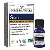Forces of Nature -Natural, Organic Scar Treatment (11ml) Non GMO, No Chemicals -Reduce Appearance of Scars Associated with Keloids, Surgery, Atrophic Acne, Burns, Hypertrophic Injuries, Stretch Marks