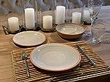 Camping Geschirrset für 4 Personen aus Melamin Picknick Geschirr Campinggeschirr Tafelgeschirr Terra Cotta Style - 2
