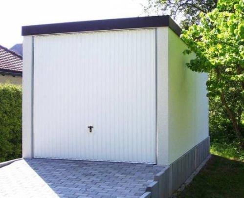 Fertiggarage Premium Auto Garage 2,58 m x 5,83 m x 2,35m Glattwand verputzt
