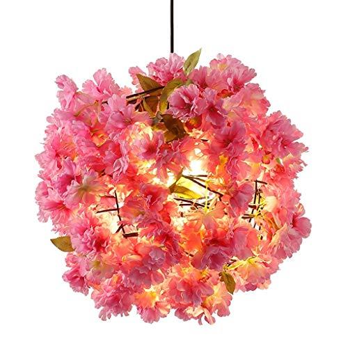 HLY Lámpara Luces colgantes Candelabro Candelabro de flor de cerezo Luces decorativas simples para plantas Sala de bodas Pasillo Lámparas de café