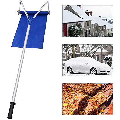 liu Dachharke, Schneeräumer-Entfernungswerkzeug mit verstellbarem Teleskopgriff, Schaber, einziehbarer Radschaber Dauerhafter Winter-Schneeräumer