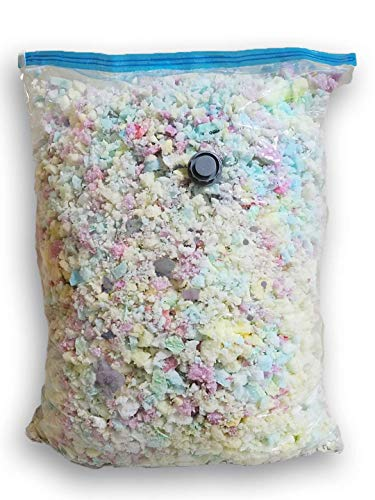 Fine High Density Shredded Memory Foam - Filler for Stuffing, Upholstery, Pillows, Crafts, Bean Bags, Chairs, Sofa, Pet & Dog Beds, and More - Made in USA (10 lbs)