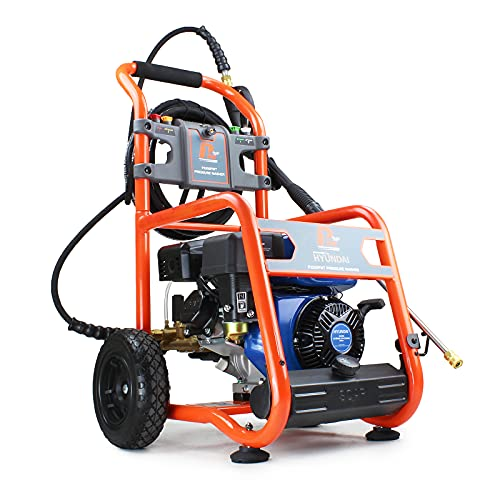 P1pe P1 Petrol Pressure Washer Powered by Hyundai 7hp Engine Commercial Grade Pump 3200psi/214 bar P3200PWT, Orange