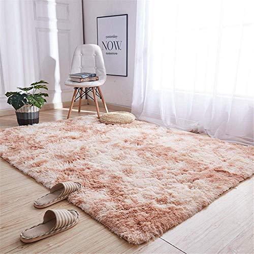 MIEMIE Teppiche, Zottelteppiche Für Wohnzimmer,universelle Teppiche Flauschiger Teppich Schlafzimmer-Teppich Beiger Quadratischer Teppich Mit Farbverlauf