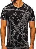 BOLF Hombre Camiseta de Manga Corta Tshirt Escote Redondo Impresión Estilo Diario J.Style 100788-1 Grafito M [3C3]