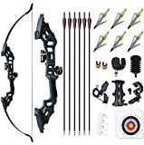 Monleap Archery 51' Takedown Recurve Bow and Arrows Set for Adults Metal Riser Longbow Kit Right...