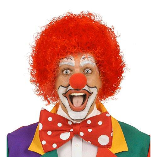 Amakando Perruque Clown manège Cirque Cheveux bouclées rigolotes Rouge fête Anniversaire Enfant Arlequin Show Accessoire Carnaval