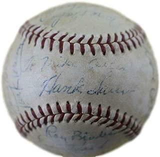 ernie banks autographed ball
