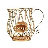 ZHJHUA - Cesta de almacenamiento universal para cápsulas de café, diseño vintage, color negro