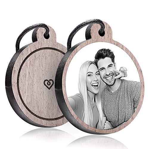 schenkYOU® Schlüsselanhänger mit Foto aus Holz - personalisierte Geschenkidee für Deine Liebsten