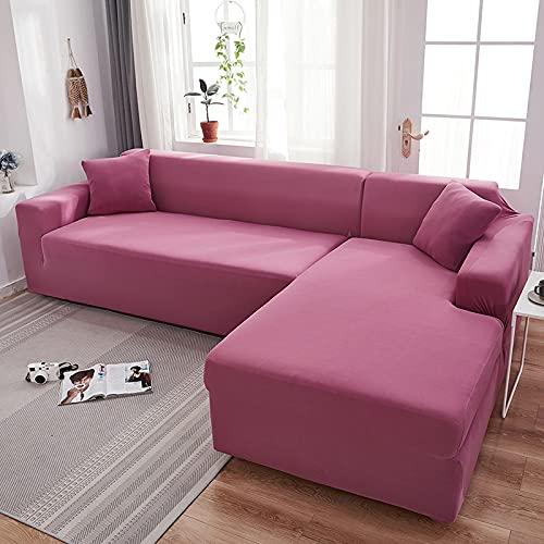 WXQY Grauer Sofabezug Stretch-elastischer Sofabezug für Wohnzimmer Eckecke L-förmiger Sofabezug Couchbezug A5 1 Sitzer