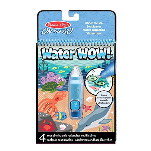 Melissa & Doug Water Reveal Pad - Under the Sea | Activity Pad | Travel | 3+ | Gift for Boy or Girl