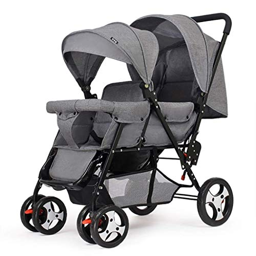 Review Of XZHSA Double Stroller |Baby Trend Sit N Stand Double Newborn - 3 Years Old (Color : Gray)