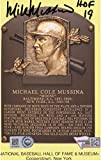 Mike Mussina New York Yankees Autographed Baseball Hall of Fame Plaque Postcard with'HOF 19' Inscription -...