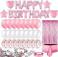 Korins Globos Cumpleaños Decoracione, Feliz Cumpleaños Decoración Fiesta Cumpleaños Negro Oro, Suministros y Decoración...