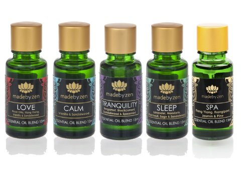 Aromatherapy Purity Signature Oils for Made By Zen and other aroma diffusers - set of 5