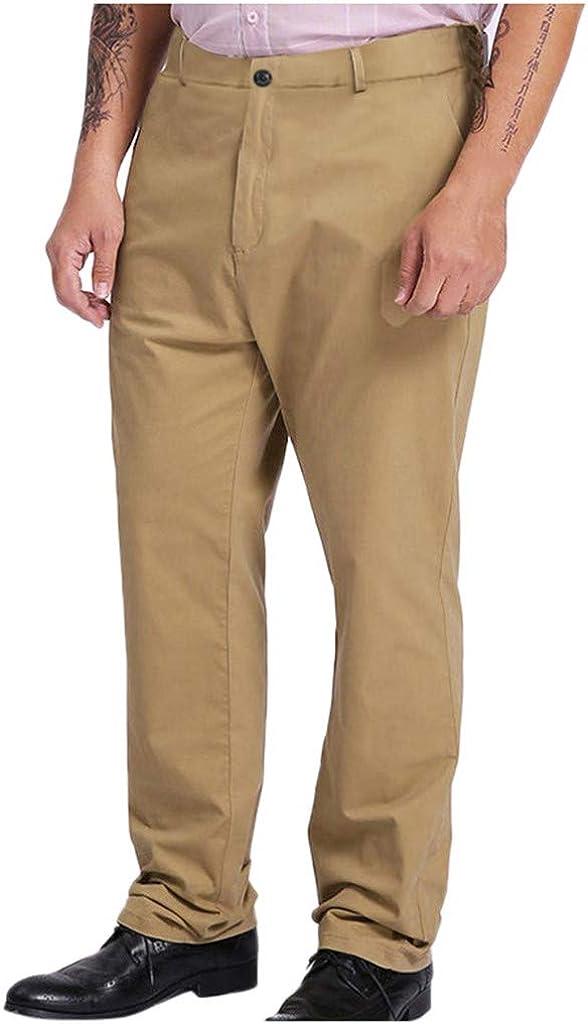 Yoyorule Men's Solid Color Large Size Trousers OFFicial mail order NEW Fat Men's M Pants