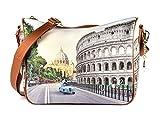 YNOT? Borsa Tracolla Donna art.YES-370 ROMA AURELIA - cm.31x22x12,5
