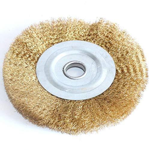 SchleifbüRsten Polierschleifscheibe 0,13mm flache Messingdraht-Radbürste for Bench-Mühle Polieren Schleifwerkzeug-Werkzeugmetall, das Holz Entgraten auswirkt Pinsel Polieren (Color : 125mmx16mm 1pc)