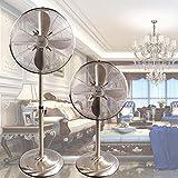 Haojie Ventilador de Piso Retro eléctrico Ventilador Industrial agitación Cabeza Vertical Estilo Fresco Oficina Sala de Estar Ventilador mecánico