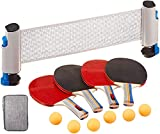 RTMAXCO Ping Pong Paddle Set, Ping Pong Paddles with Carry Case, Best 4 Pack Professional Table Tennis Racket...