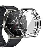 sciuU Cover Protettiva per Huawei Watch GT 2 PRO, Custodia con Protezione di Schermo in TPU Flessibile, Morbida Copertura Cornice Resistente per Smartwatch GT 2Pro - Chiaro
