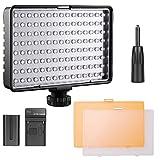 FOSITAN TL-160S 160 LEDs Torche Vidéo 3200K 5500K Studio Photo Vidéo Lampe...