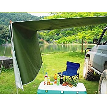 Gdrasuya10 Car Side Awning Waterproof Rooftop Car Sun Shelter Auto Canopy Camper Trailer Tent Roof Top for SUV Minivan Hatchback Camping Outdoor Travel 5-6Persons