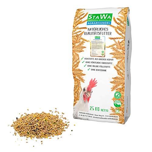 StaWa Kombi Hühnerfutter-Mix, ohne Gentechnik, Alleinfutter + Bierhefe und Oregano-Öl, 25 kg