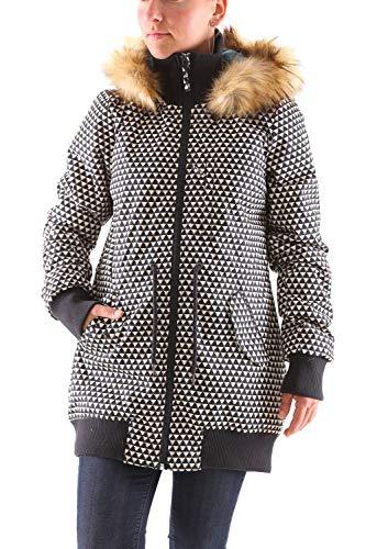 Blutsgeschwister Schneewölkchen Longjacket Damen Parka Jacke, Größe:XL, Farbe:Schwarz (Rodeo Ride)
