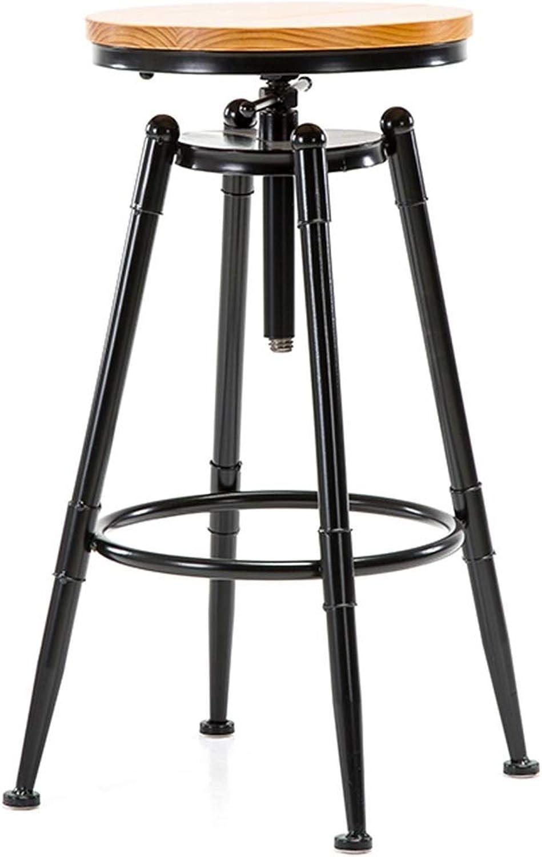 BARSTOOLRI Bar Stool, redating Adjustable Iron Art Modern Fashion Seat Ergonomics High Chair for Living Room Kitchen Office