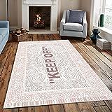 HUABUDAYIN Keep Off Area Rugs Floor Mat Black and White Carpet Living Room Bedroom Bedside Bay Window Sofa Floor Decor Mat 160X230Cm