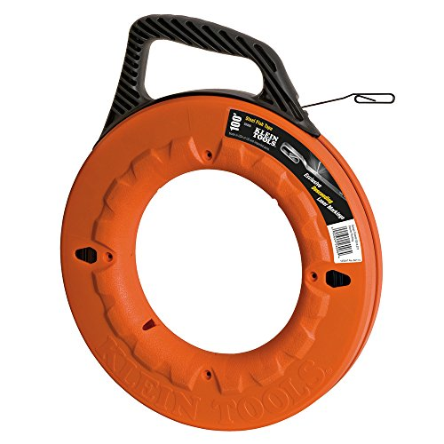 Klein Tools Tiefe Finder mit hohen Stärke 1/4-Zoll breit Stahl Fisch tape, 56006