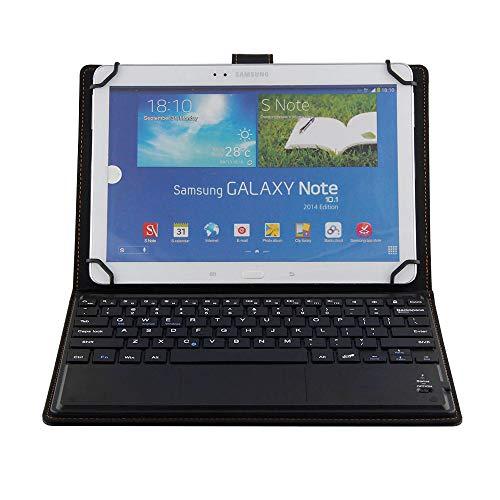 J&H Funda universal de piel para teclado para tablet Samsung Galaxy Tab E 9.6, funda de piel sintética con teclado Bluetooth (TOUCHPAD MOUSE) para Samsung Galaxy Tab E9.6 [SM-T560/T561]