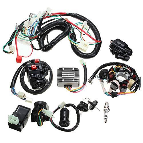 Yiran - Kit de estátor CDI de repuesto para cableado de 4 tiempos, Go Kart Dirt Bike, montaje eléctrico, cuadro de conexión, bobina de encendido Buggy ATV Quad para 150 CC, 200 cc, 250 cc