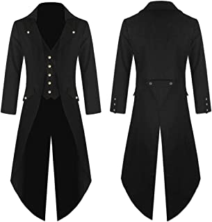 Vintage Tuxedo Baigoods Men's Coat Tailcoat Jacket Gothic Frock Coat Uniform Costume Praty Outwear