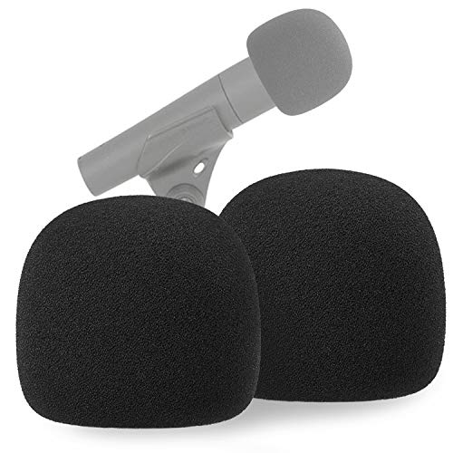 SM57 Pop Filter Foam Cover - Mic Windscreen Wind Cover Customized for Shure SM-57 Microphone to Blocks Out Plosives by YOUSHARES (2 PCS)
