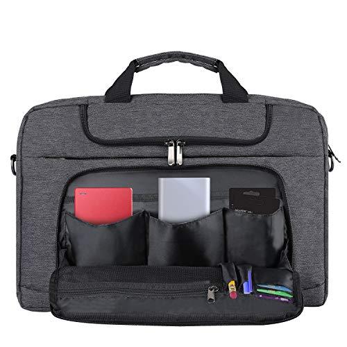BERTASCHE Laptoptasche 14 Zoll Notebooktasche Schulter Tasche für Uni Arbeit Business